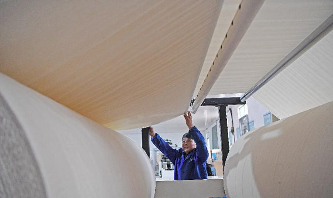 East China county makes paper with recyclable bamboo materials