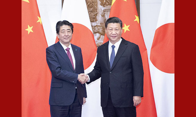 Xi meets Japanese Prime Minister, urging effort to cherish positive momentum in ties