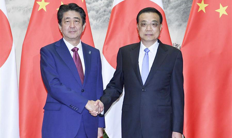 Chinese premier calls for efforts to advance ties with Japan