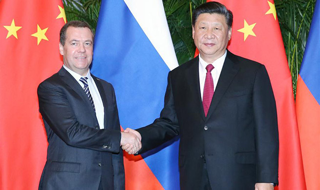 Xi meets Russian prime minister