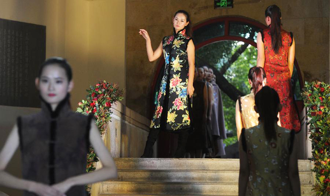 Traditional handmade cheongsam show held in Suzhou, E China