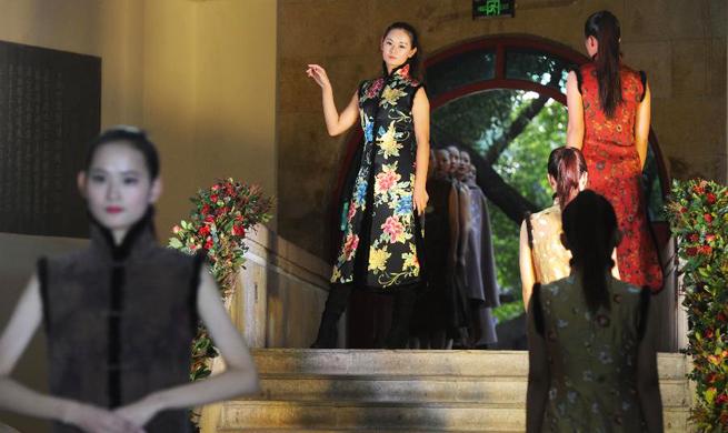Traditional handmade cheongsam show held in Suzhou, E China