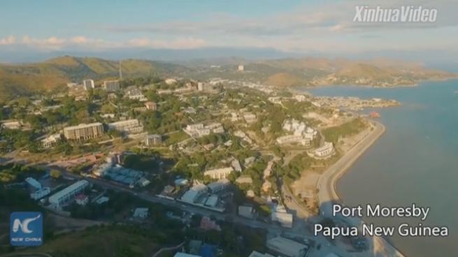 Aerial view of APEC host country -- Papua New Guinea