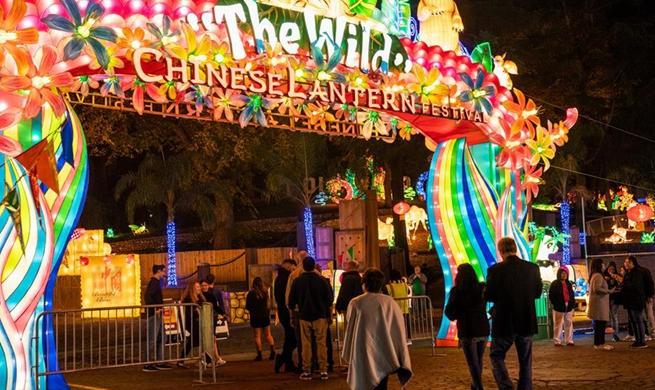 Chinese lantern festival held in Los Angeles