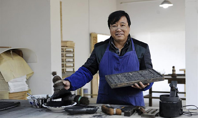 Pic story of typography printer in east China's Anhui