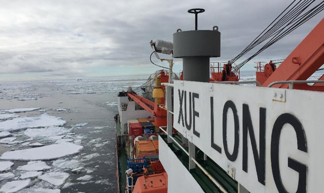 China's icebreaker Xuelong enters floating ice field in Southern Ocean