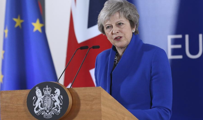 In pics: Theresa May addresses press conference at special Brexit summit