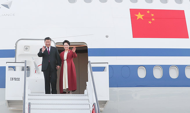 Chinese president arrives in Spain for state visit