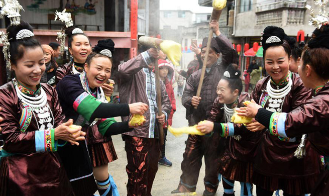Dong people celebrate new year in SW China