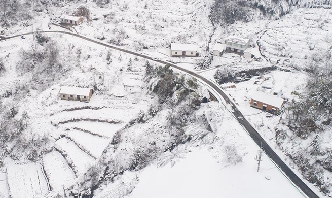 In pics: snow scenery in east, southwest China