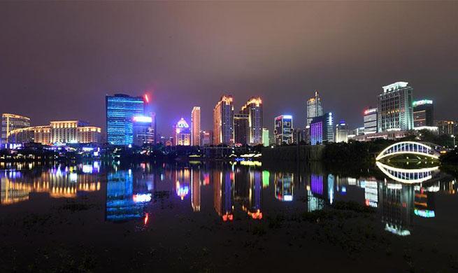 Night view of Nanning, south China's Guangxi