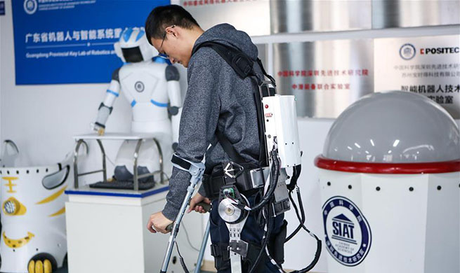 Pic story: exoskeleton robot brings hope to paralyzed people, the aged