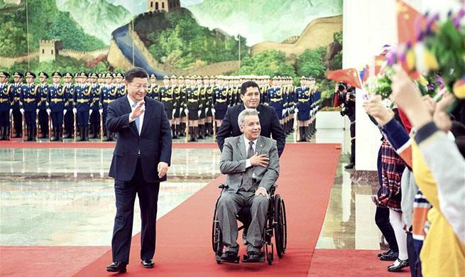 Xi holds talks with Ecuadorean president, eyeing steady development of bilateral ties