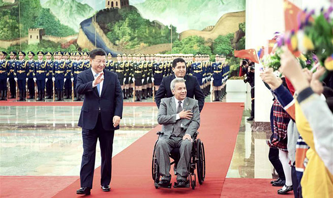 Xi holds talks with Ecuadorean president, eyeing steady development of bilateral ties