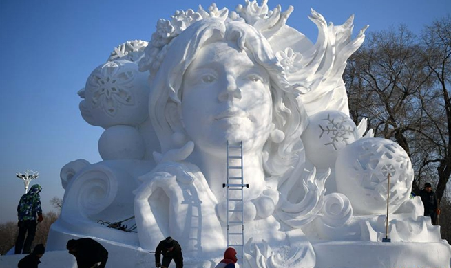 31st Harbin Sun Island Int'l Snow Sculpture Art Exposition to be held in China's Heilongjiang