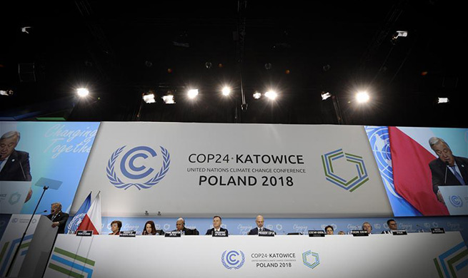 Xinhua Headlines: Climate rulebook adopted at Katowice conference, challenges remain