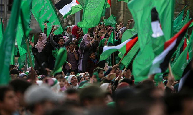 Hamas rallies in Gaza, marks 31st founding anniversary amid calls for anti-Israel attacks