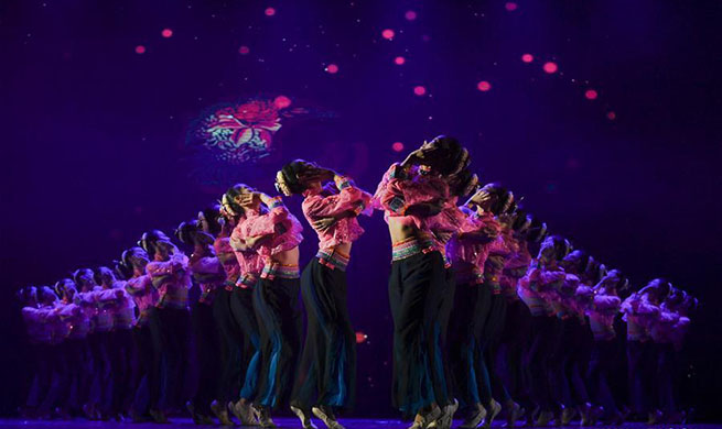 Dance work displaying activity held in Fuzhou, SE China's Fujian