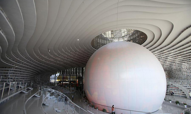 In pics: Tianjin Binhai New Area Library in N China