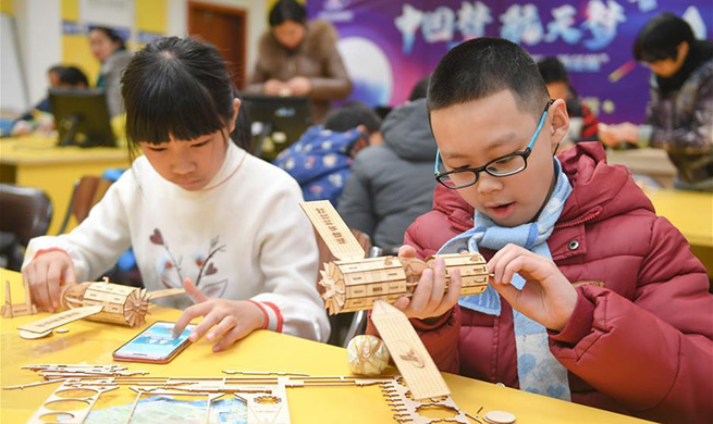 Children participate in science activity held in Fuzhou, SE China's Fujian