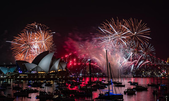 Xinhua Headlines: With varied fireworks and shared wishes, world expecting a better new year