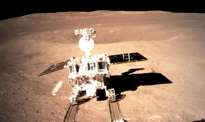 "China's new lunar rover leaves first ""footprint"" on moon's far side"