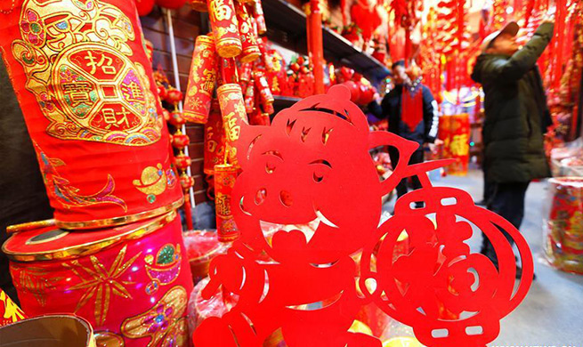 People busy buying decorations to greet Lunar New Year in E China's Shandong