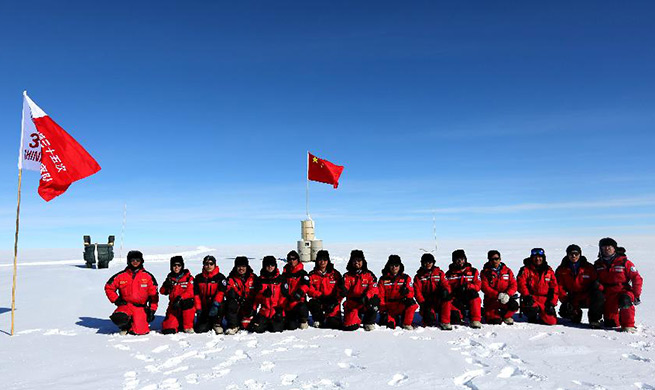 In pics: China's 35th Antarctic expedition team at Dome A area