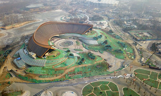 In pics: construction site of Int'l Horticultural Exhibition 2019 Beijing China
