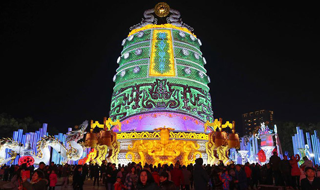 Lantern festival marked in Zigong, SW China's Sichuan