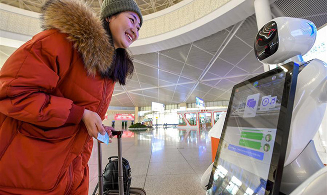 In pics: intelligent equipment at Hohhot East Railway Station, China's Inner Mongolia