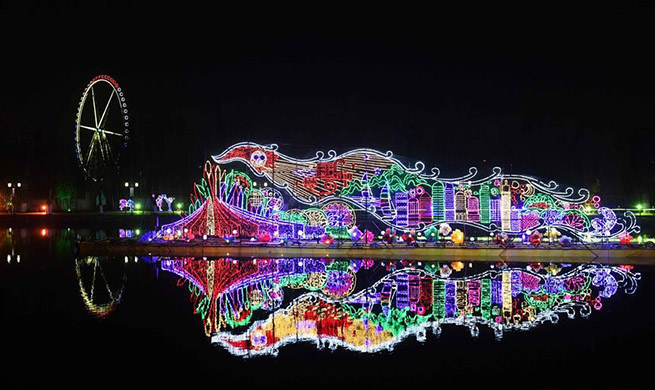 Scenery of fancy lanterns in Kunming, SW China's Yunnan
