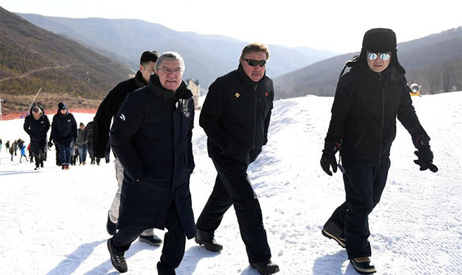 Thomas Bach visits venues for Beijing 2022 Olympic Winter Games