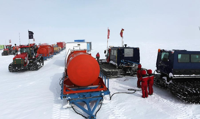 China's 35th Antarctic expedition teams leave Taishan Station for Zhongshan Station
