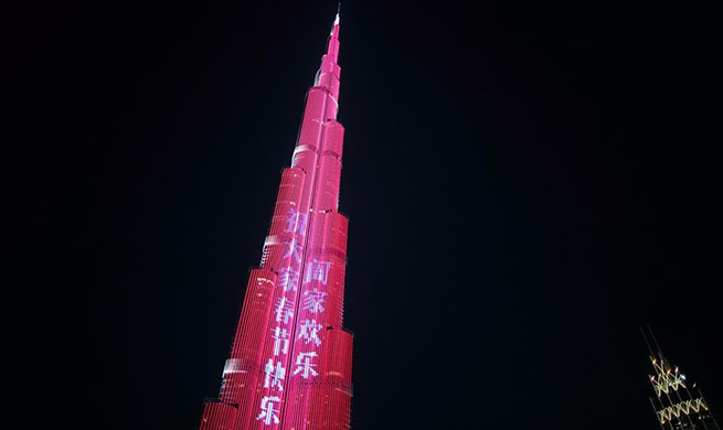 World's tallest building displays light show to celebrate Chinese Lunar New Year in UAE