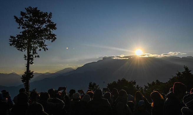 Sunrise scenery at Ali Mountain, SE China's Taiwan