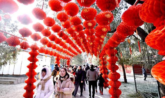 Temple fair held to celebrate Spring Festival at Ditan Park in Beijing