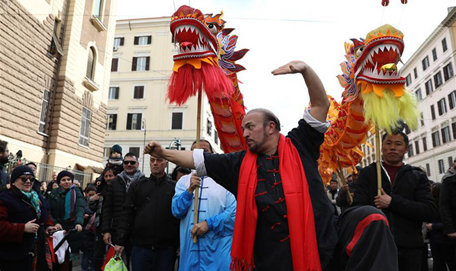 Chinese New Year celebrations send festive vibes across Rome