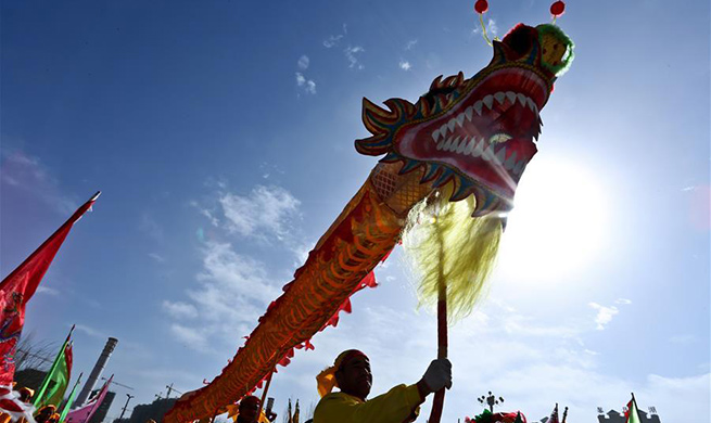 People perform folk dance nationwide during Spring Festival