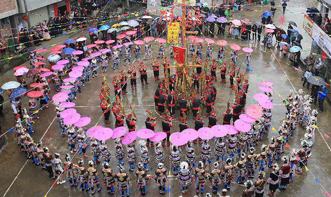 "Local gathering ""Datongnian"" held in Rongshui, S China's Guangxi"