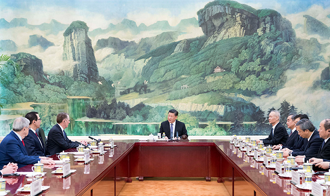 Chinese president meets U.S. trade representative, treasury secretary