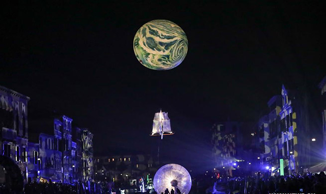 In pics: opening show of Venice Carnival in Italy