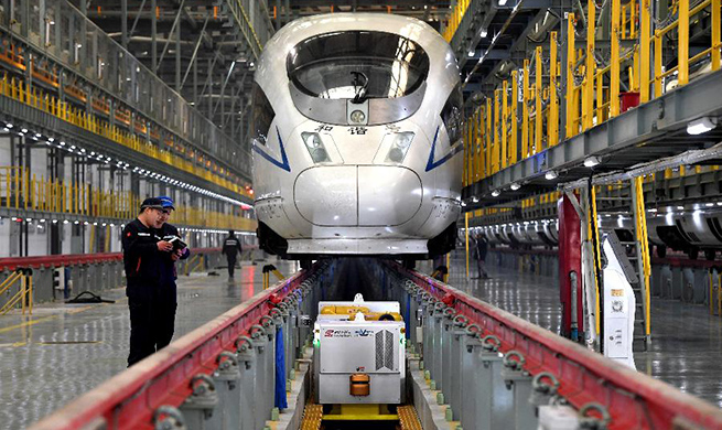 Robots employed in China's railway system during Spring Festival travel rush