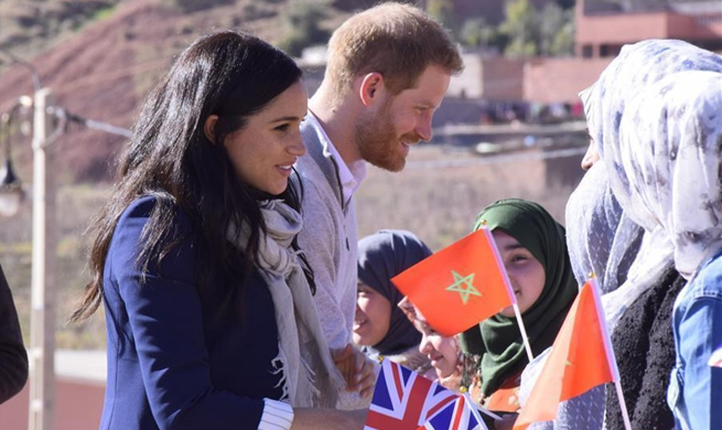 British Prince Harry supports girls' education in rural Morocco