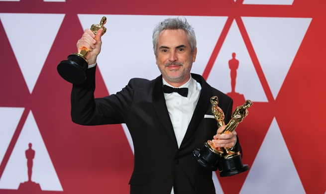 "Alfonso Cuaron wins Best Director award for ""Roma"" at 91st Oscars"