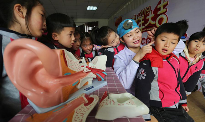 Ear care knowledge introduced to students across China