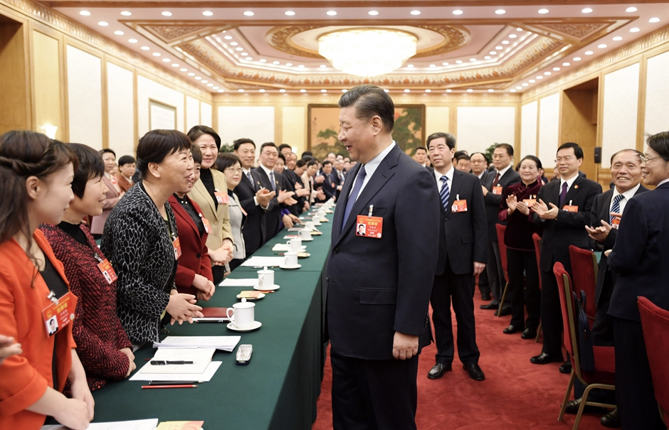 Infographic: Highlights of Xi's remarks when joining deliberation with NPC deputies (March 8)