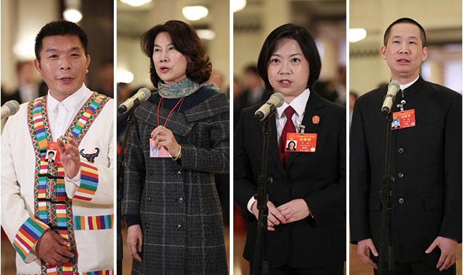 Deputies to 13th NPC receive interview in Beijing