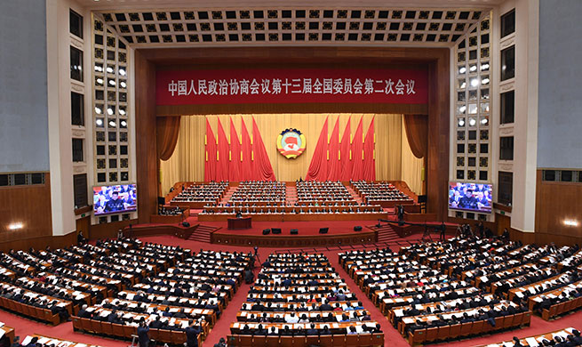 Second plenary meeting of 2nd session of 13th National Committee of CPPCC held in Beijing
