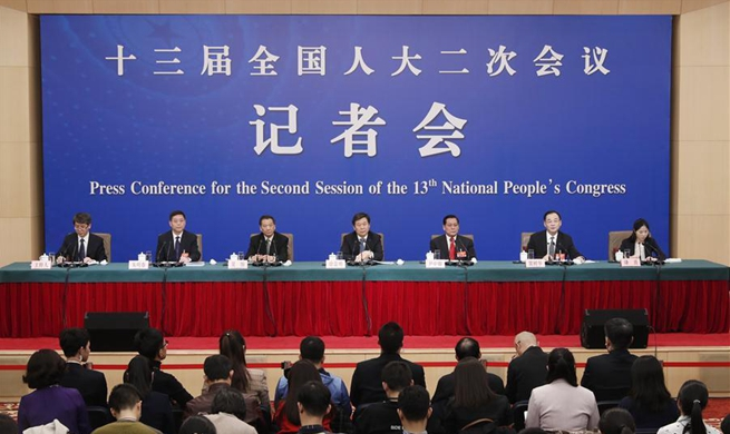 Press conference on supervision work by NPC for 2nd session of 13th NPC held in Beijing